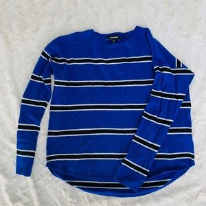 Express Blue Sweater with Black Stripes Size L